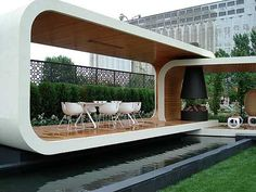 Image Of Attractive Modern Gazebo Design Modern Gazebo, Small Office Design, Garden Design, House Design, Garden Office, Contemporary Garden, Outdoor Living, Outdoor Decor, Creative Walls