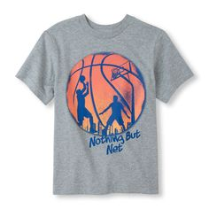 Short Sleeve 'Nothing But Net' Basketball Graphic Tee