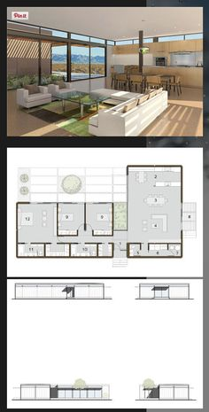 L Shaped floor plan Modern Bungalow House, Modern House Plans, Small House Plans, L Shaped House Plans, Container House Design, Small House Design, Modern House Design, Home Design Floor Plans, House Floor Plans