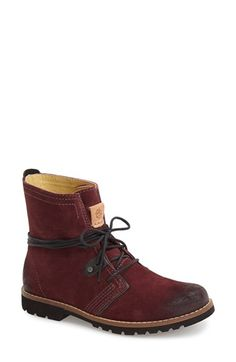 Free shipping and returns on Bussola 'Kim' Hiking Bootie (Women) at Nordstrom.com. A burnished toe and lugged sole give this round-toe bootie a refined-rugged vibe that pairs perfectly with denim and swishy Boho silhouettes. Wraparound laces and contrast stitches keep it cool and casual.