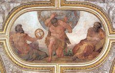 Annibal Carrache. Hercule portant le monde à la place d'Atlas. Fresque du camerino d'Odoardo Farnèse, vers 1595-1600. Rome, Palais Farnèse.