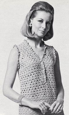 Vintage Crochet Pattern Instructions to Make a Ladies Summer Sun Dress
