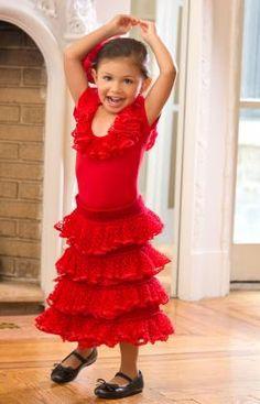 Strickmuster für Für kleine Flamenco-Tänzerinnen