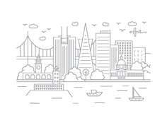 San Francisco, California by McGuire Design | Dribbble