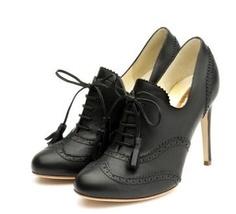 Black high heel brogues. <3