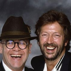 Elton and Eric Clapton, late 1980's