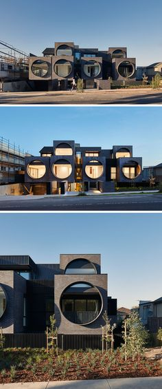 BKK Architects have recently completed the Cirqua Apartments that feature large porthole windows that face the street.