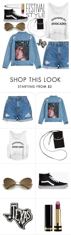 """My Festival Look"" by cm-christy ❤ liked on Polyvore featuring Nobody Denim, Keds, Vans, Primitives By Kathy, Gucci and Rodin"