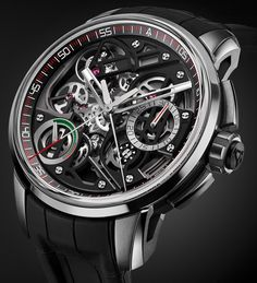 """Angelus U30 Tourbillon Rattrapante Watch - by David Bredan - on aBlogtoWatch.com """"There are technically impressive movements, beautifully executed ones, complicated ones... and then, sometimes, there are movements that imply someone at the brand has gone absolutely mad, mix-and-matched his or her favorite complications... and refused to take no for an answer. Here's a perfect example of that latter phenomenon, the Angelus U30 Tourbillon Rattrapante..."""""""