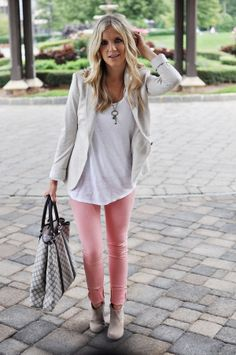 Spring Denim Trends: Pastels. Pop of color, but not too bright or jewel toned. I like dusty colors. Spring Summer Fashion, Spring Outfits, Autumn Winter Fashion, Summer 2015, Fall Fashion, Summer Winter, Summer Maxi, Spring 2014, Fashion Beauty