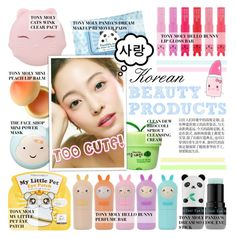~ Too Cute! Korean Beauty Products ~ by aj93 on Polyvore featuring polyvore bellezza Tony Moly TONYMOLY The Face Shop
