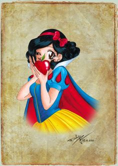 Another bookmark to the collection, this time soft and gentle Snow White. Enjoy! More: