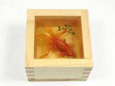 可憐小金魚被透明樹脂封存..別哭,你再看一次 | 凸圖 | 鍵盤大檸檬 手機版 MobileWeb