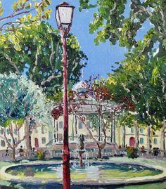 Thomas Grotzky, Sète, la place Aristide Briand
