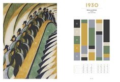 100 Years of Color: Beautiful Color Combinations of the 20th Century - 1930scolors