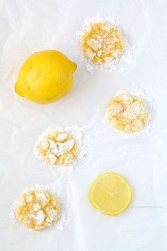Lemon Coconut Crinkle Cookies with a burst of citrus flavor