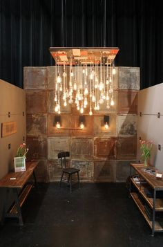 Recalimed Wood Chandelier, Urban Chandy