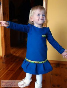 Jak uszyć dzianinową sukienkę dla dziecka (szycie krok po kroku) + opis jak przygotować wykrój
