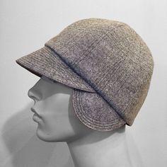 Light or Dark Grey or Black Felt fabric Cloche Hat Earflaps Bespoke Custom  Made Embroidered w 9071a7601284
