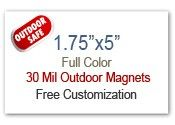 "1.75x5 Custom Magnets | 1.75"" x 5"" Refrigerator Magnets 