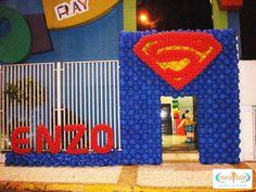 Fotos - Super Heróis- Cenário Balões - Excelência em Decoração