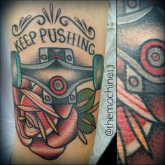 Tattoos by Zack. What about 3.2.1.go! And a weight and rope