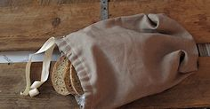 This tutorial is for a linen bread bag (but of course you can choose another fabric) with a drawstring closure and french seams on the ins...
