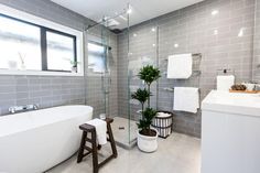 Get the Look: Sam & Emmett's Bathroom. Visit https://curate.co.nz/featured/as-seen-on-the-block-nz-2016 for links to the products as seen on The Block