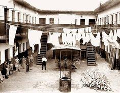 Conventillo antiguo en Buenos Aires.