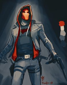 """paintedking: """" Redhood warm-up painting! """""""