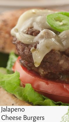 Here's an easy way to add some kick to your burgers 'cause the jalapenos are already in the cheese! Inside Out Burger, Dinner Menu, Dinner Ideas, Jalapeno Cheese, Beef Burgers, Food Tasting, Weeknight Meals, Slow Cooker Recipes, Hamburger