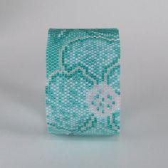 Cosmos  Aqua  Bracelet Pattern  Peyote Pattern by CreativeGoods