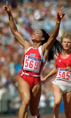 """Florence Griffith Joyner is considered the """"fastest woman of all time"""" based on the fact that the world records she set in 1988 for both the 100 meters and 200 meters still stand and have yet to be seriously challenged. She died in her sleep as the result of an epileptic seizure in 1998 at the age of 38. She attended UCLA. A phenomenal athlete and woman!"""