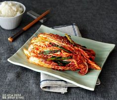 How to make rice cabbage is called rice recipe Golden recipe is easy? Rice Recipes, Asian Recipes, Cooking Recipes, Ethnic Recipes, Korean Dishes, Korean Food, Kimchi, Food Flatlay, K Food