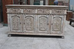 Carved Indian Sideboard by MarigoldImports on Etsy