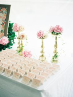 Photography : Ashley Kelemen   Venue : Monteverde At Oldstone Read More on SMP: http://www.stylemepretty.com/2016/07/20/expert-tips-on-creating-memorable-vignettes-for-wedding-guests/
