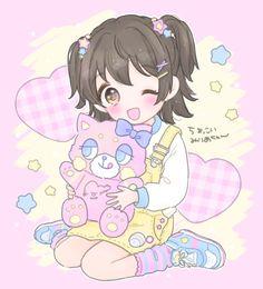Anime Girl Neko, Cute Anime Chibi, Kawaii Chibi, Anime Girl Cute, Anime Art Girl, Arte Do Kawaii, Kawaii Art, Anime Lindo, Cute Kawaii Drawings