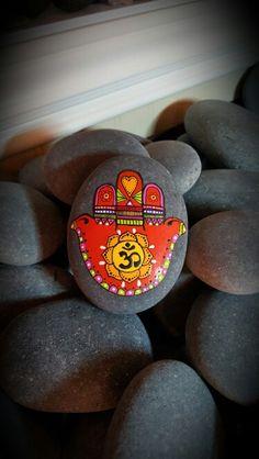Mandala stone - Hamsa