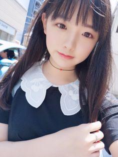 Monochromatic Makeup, Anime Cosplay Girls, Model Face, Cute Little Girls, Kawaii Girl, Kawaii Fashion, Beautiful Asian Girls, Hairstyles With Bangs, Ulzzang Girl