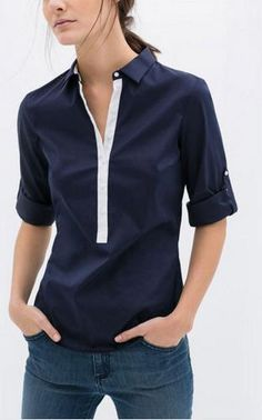 Ladies rolled up sleeve shirt – AndrogyMe Clothing Androgynous fashion for  women Fehér Trikó 35f37bc15a