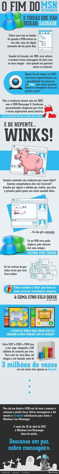 Infográfico - O fim do MSN Messenger: uma era que vai deixar saudade [infográfico]
