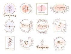 Premium logo template watercolor style P. Flower Logo Design, Planner Logo Design, Baking Logo Design, Floral Logo, Floral Logo Design, Logo Design Free, Branding Design Logo, Logo Templates, Florist Logo