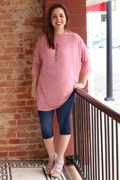 One Faith Boutique - Hot and Cold Shoulder Acid Washed Tunic ~ Mauve ~ Sizes 4-10, $40.00 (https://www.onefaithboutique.com/new-arrivals/hot-and-cold-shoulder-acid-washed-tunic-mauve-sizes-4-10/)