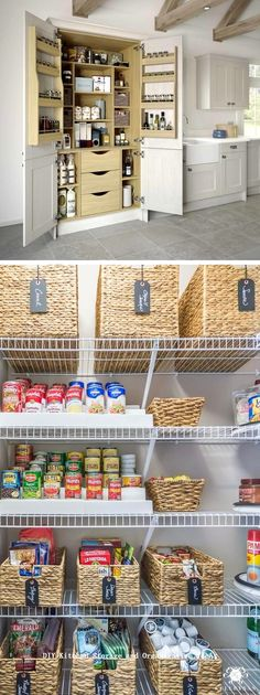 12 Diy Kitchen Storage Ideas For More Space in the Kitchen 1 Living Room Storage, Bedroom Storage, Living Rooms, Diy Kitchen Shelves, Kitchen Redo, Kitchen Ideas, Wood Bedroom, Updated Kitchen, Kitchen Updates