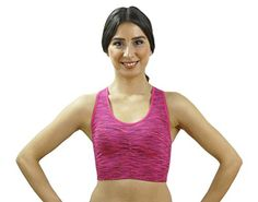 Morera Seamless Womens Padded Sports Bra Large PurplePink ** Read more reviews of the product by visiting the link on the image. (This is an affiliate link)