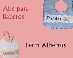 ABC Baberos Letra Albertus