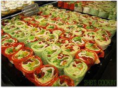 Mediterranean Pinwheel Hummus Wraps