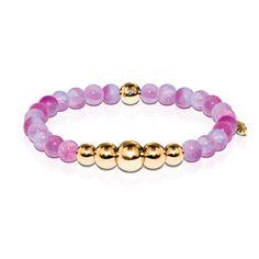 Loyalty | Gold Aura Multi Color Jade Bracelet