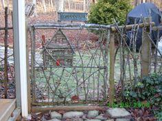 Creative garden gate.
