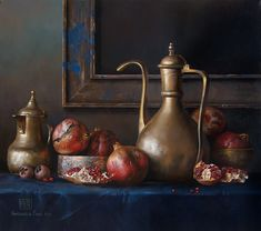 Kai Fine Art is an art website, shows painting and illustration works all over the world. Painting Still Life, Still Life Art, Apple Art, Art Station, Life Pictures, Conceptual Art, Still Life Photography, Traditional Art, Contemporary Artists